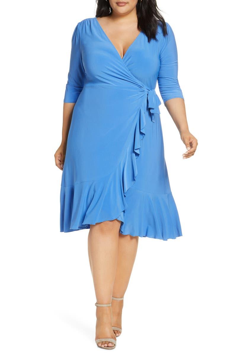 KIYONNA Whimsy Wrap Dress, Main, color, 480