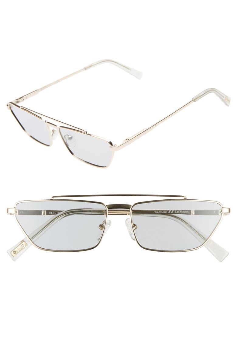 Le Specs Electricool 57mm Polarized Cat Eye Aviator Sunglasses