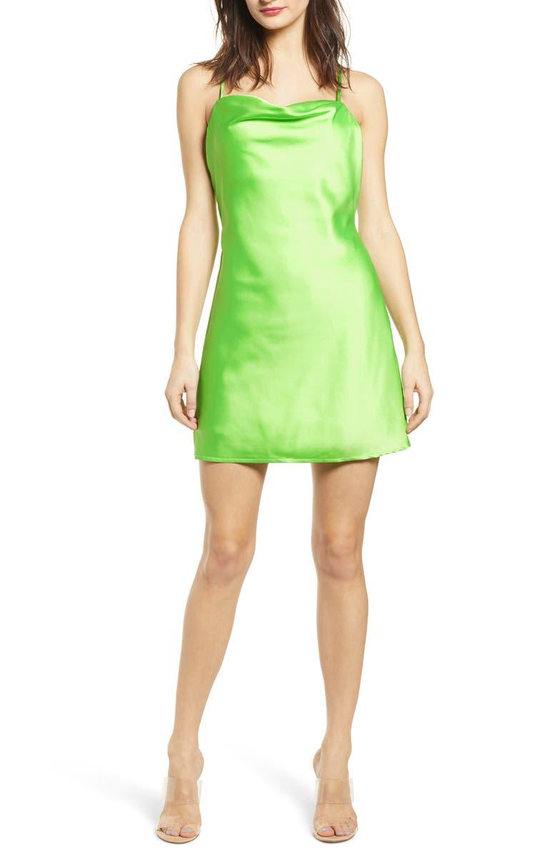 J.O.A. Cowl Minidress, Main, color, 300