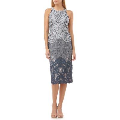 Js Collections Soutache Lace Midi Dress, Grey