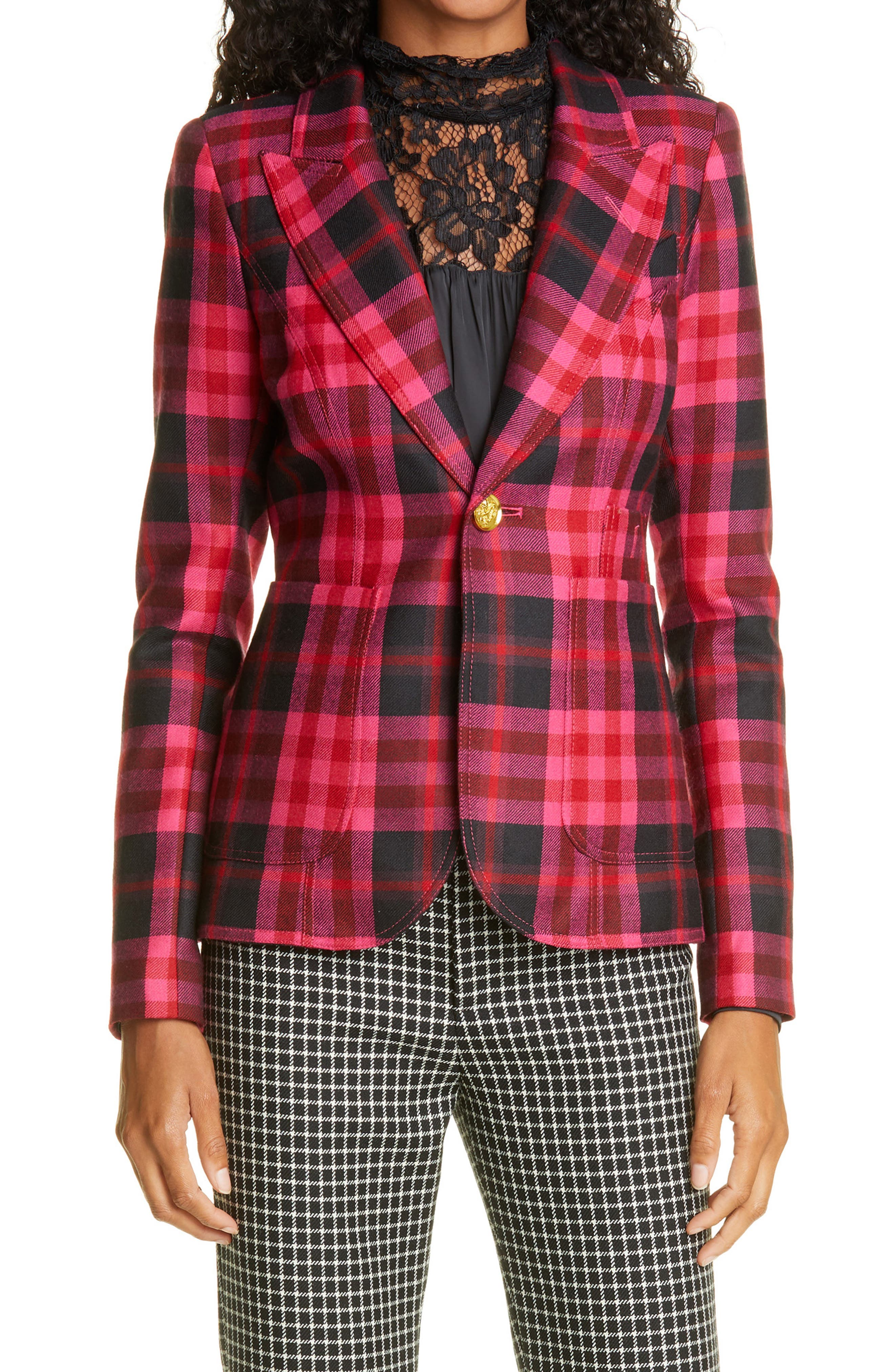 Smythe Duchess Plaid Wool Blazer | Nordstrom