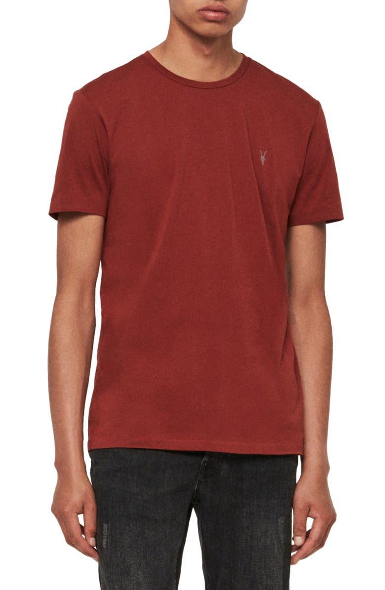 ALLSAINTS Tonic Slim Fit Crewneck T-Shirt, Main, color, VISTA RED