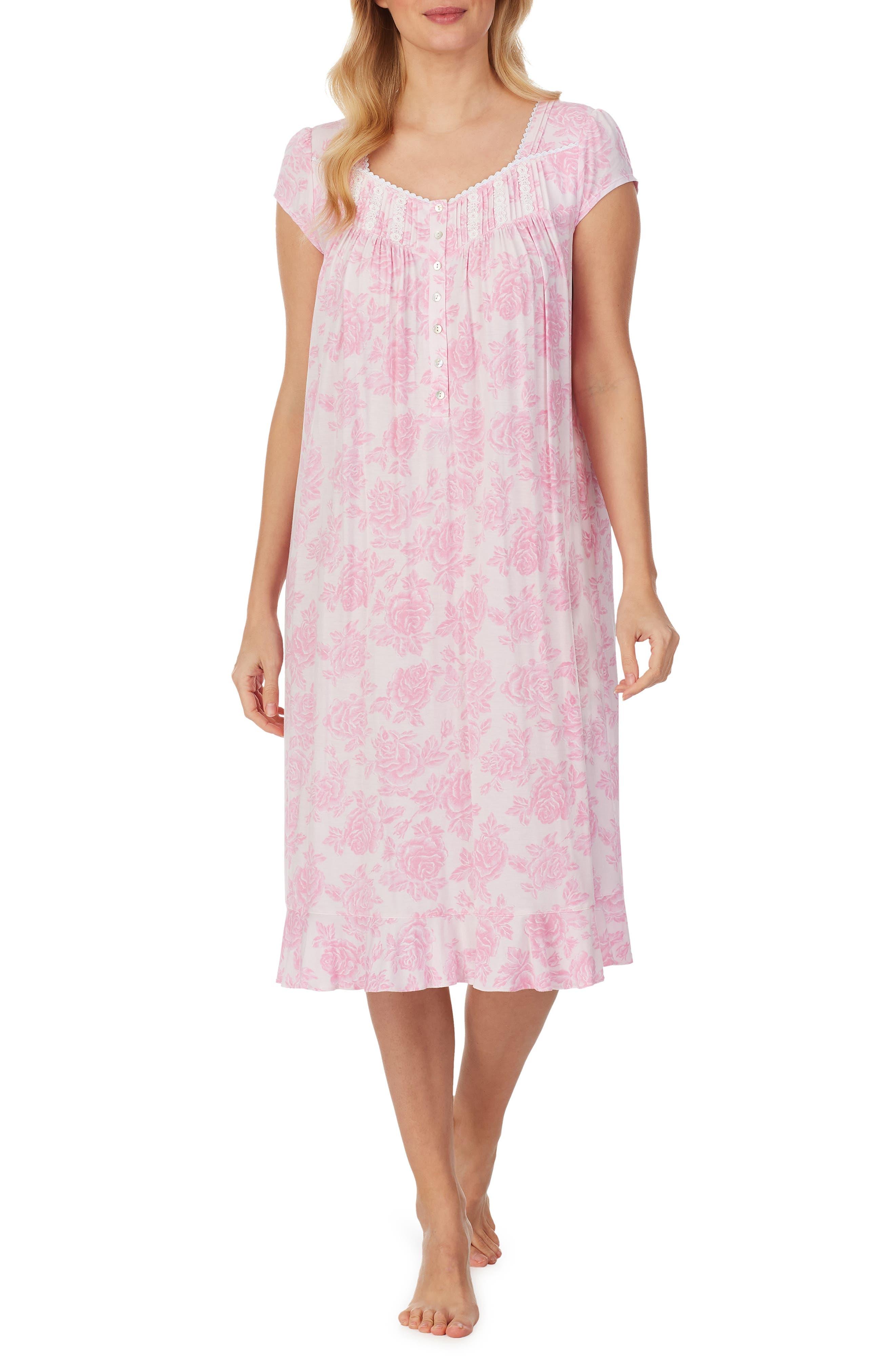 Classic Waltz Cap Sleeve Jersey Nightgown