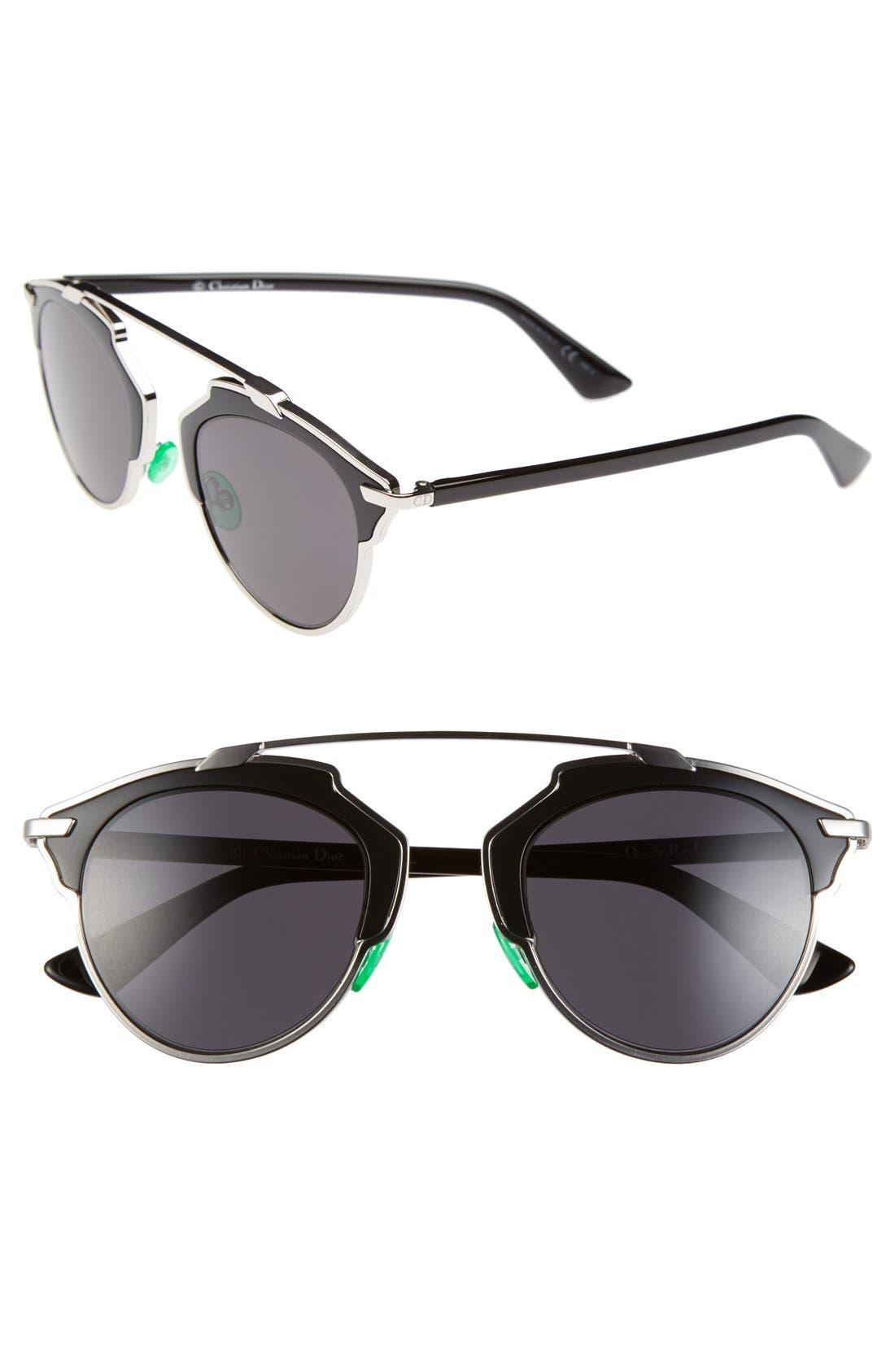 ,                             So Real 48mm Brow Bar Sunglasses,                             Main thumbnail 34, color,                             043
