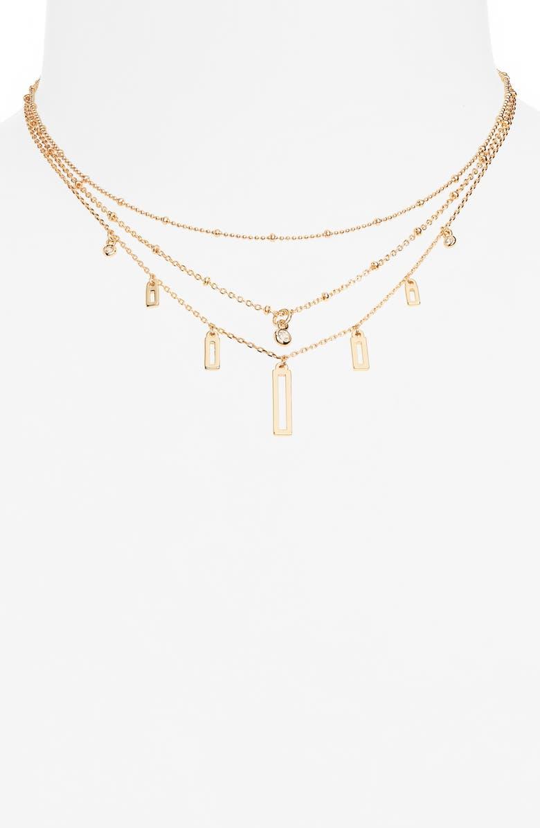 BP. Set of 3 Charm Necklaces, Main, color, GOLD