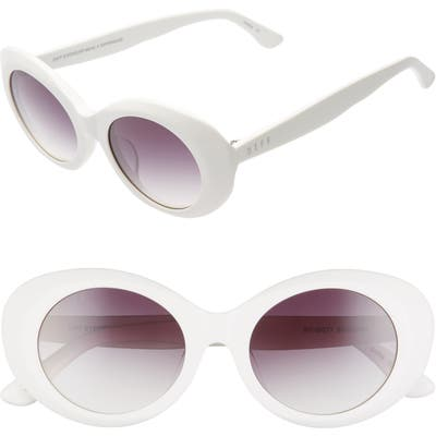 Diff Olivia 50Mm Oval Sunglasses - White/ Grey