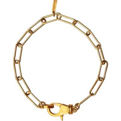 Adornia Lock Paper Clip Link Bracelet