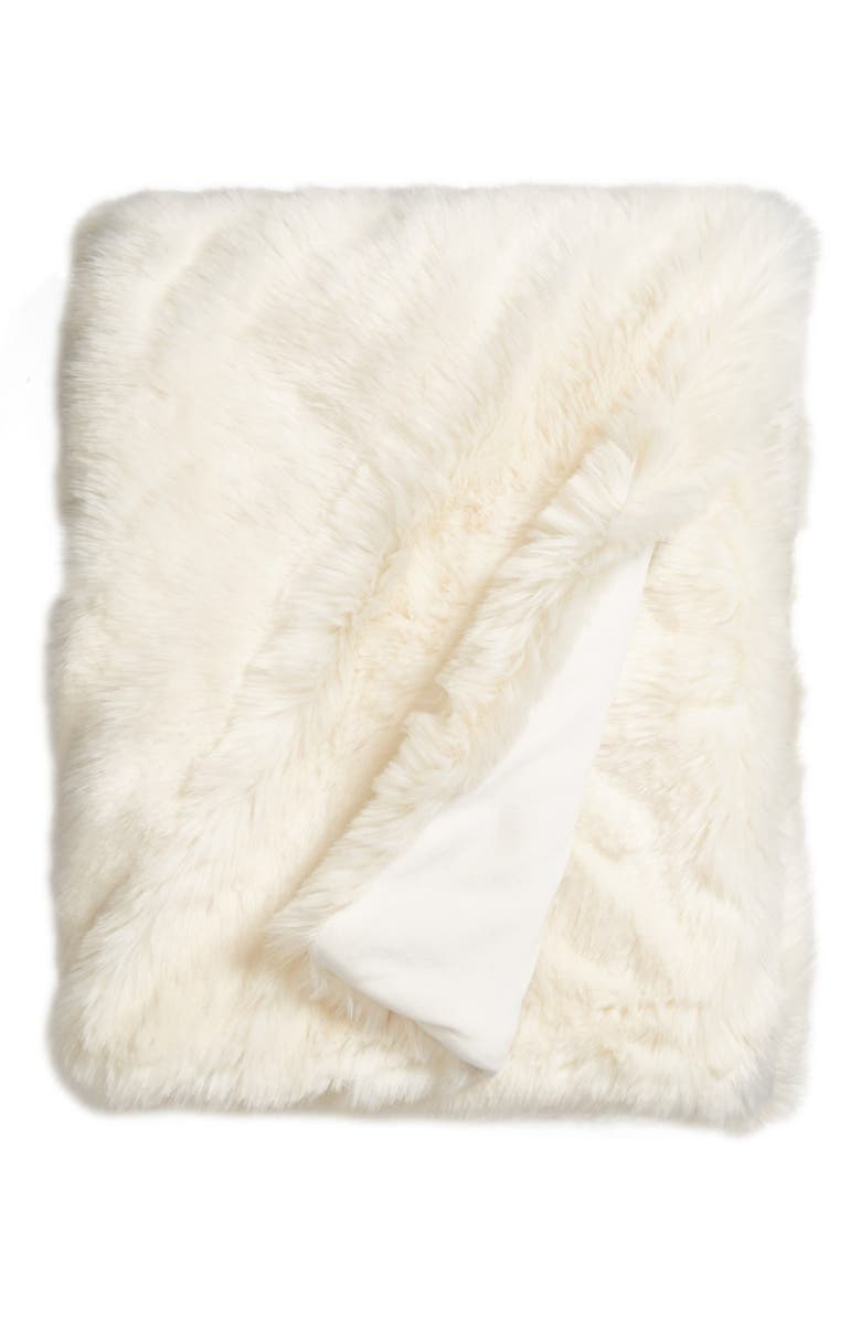 NORDSTROM AT HOME Cuddle Up Faux Fur Throw Blanket, Main, color, 901