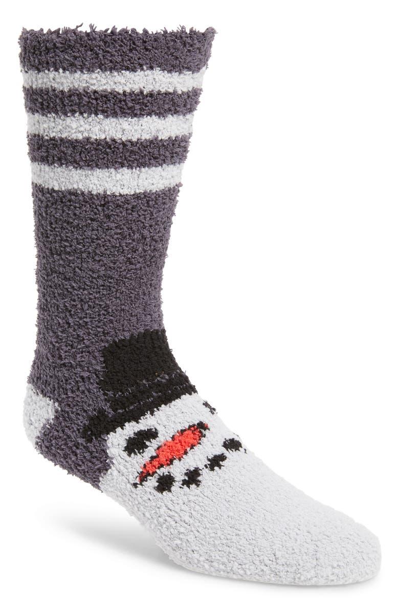 NORDSTROM MEN'S SHOP Plush Winter Butter Socks, Main, color, 030