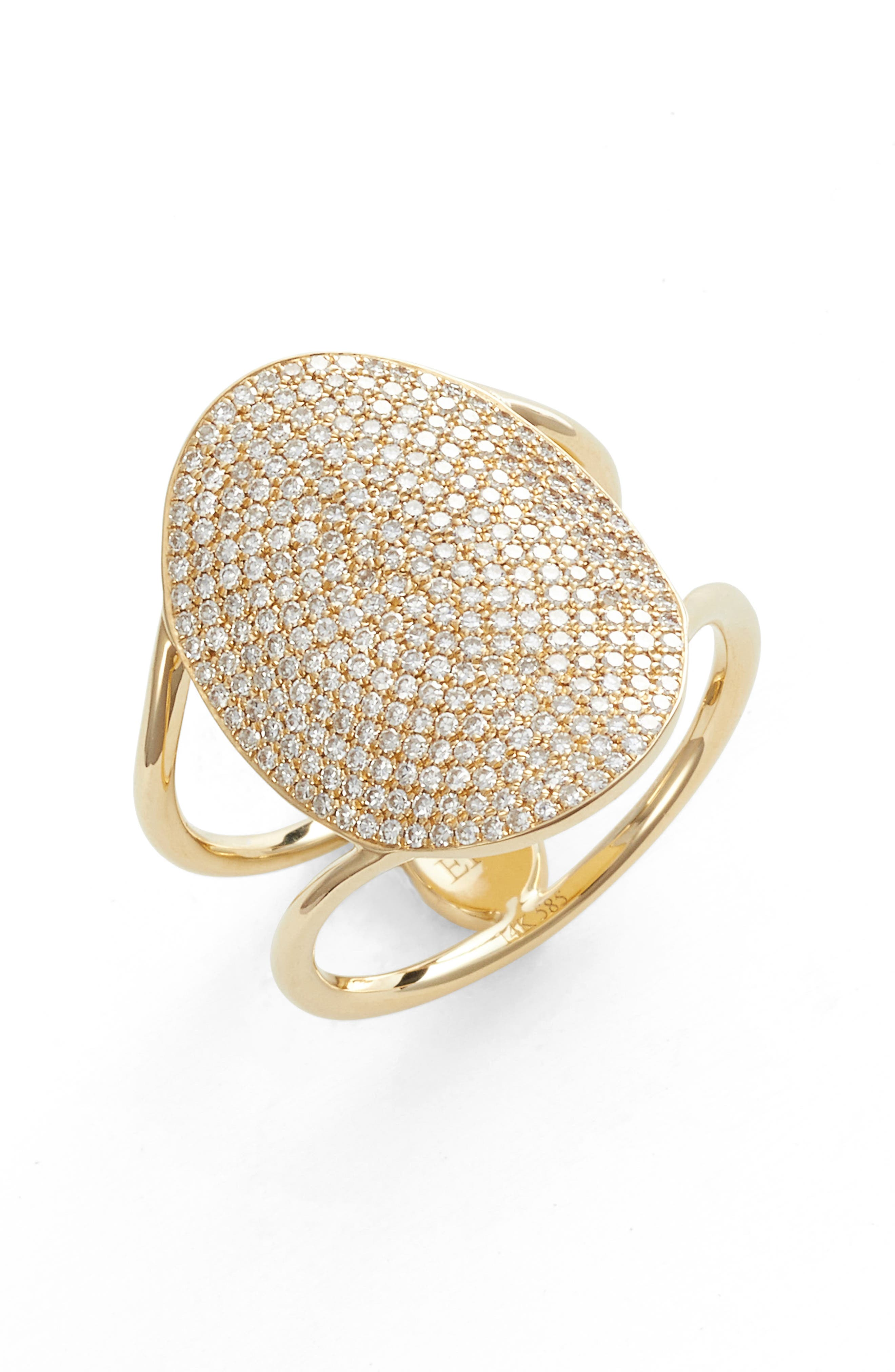 Jumbo Oval Pave Diamond Ring