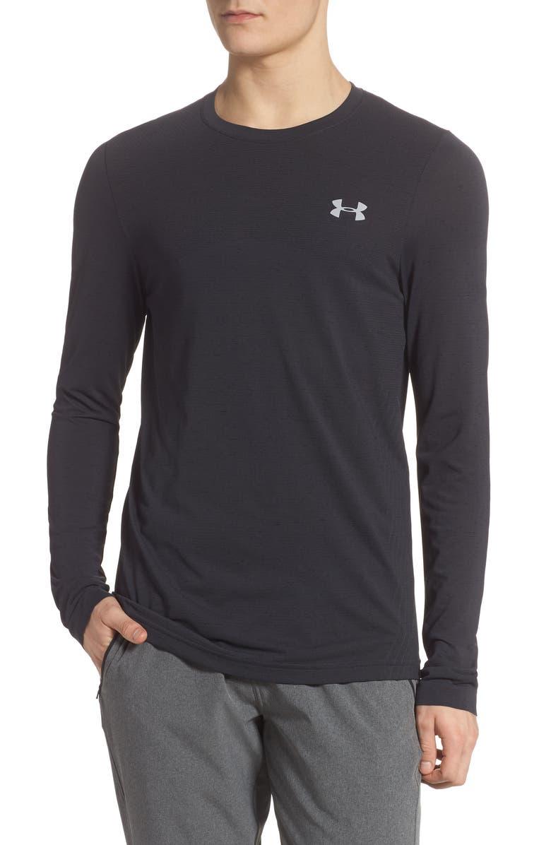 UNDER ARMOUR Seamless Long Sleeve T-Shirt, Main, color, 001
