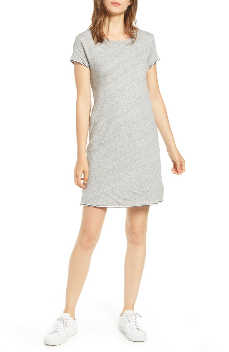 SPLENDID Balboa T-Shirt Dress, Main, color, HEATHER MARBLE