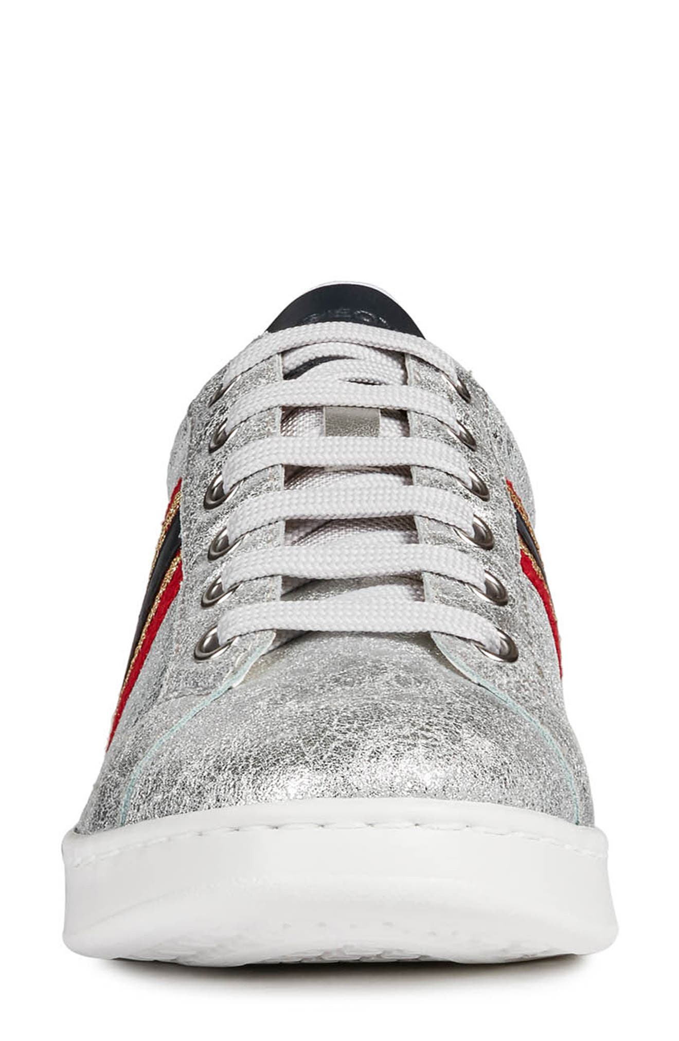 ,                             Jaysen Sneaker,                             Alternate thumbnail 4, color,                             SILVER/ NAVY LEATHER