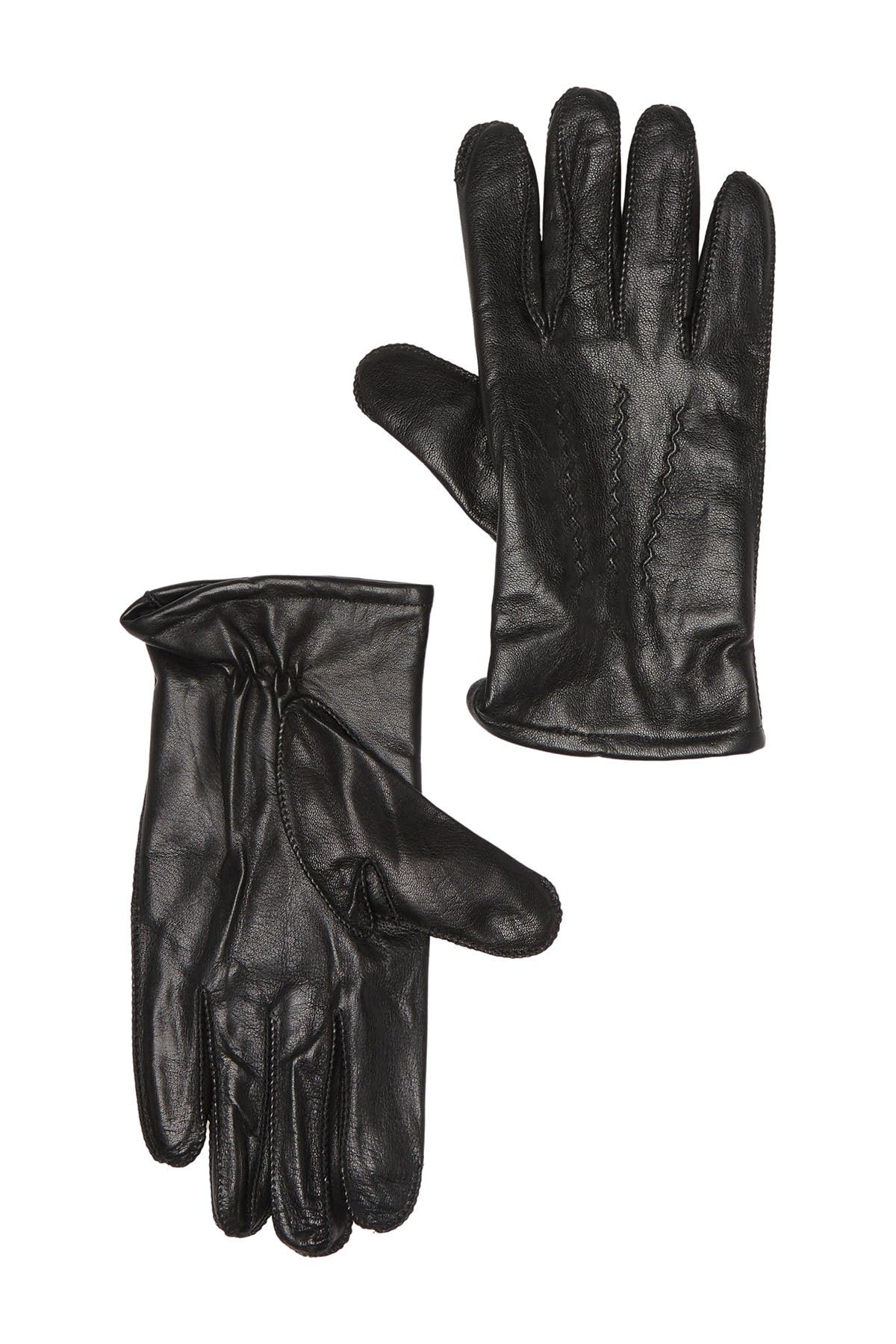 Image of Fownes Bros Wool & Cashmere Blend Lined Leather Gloves