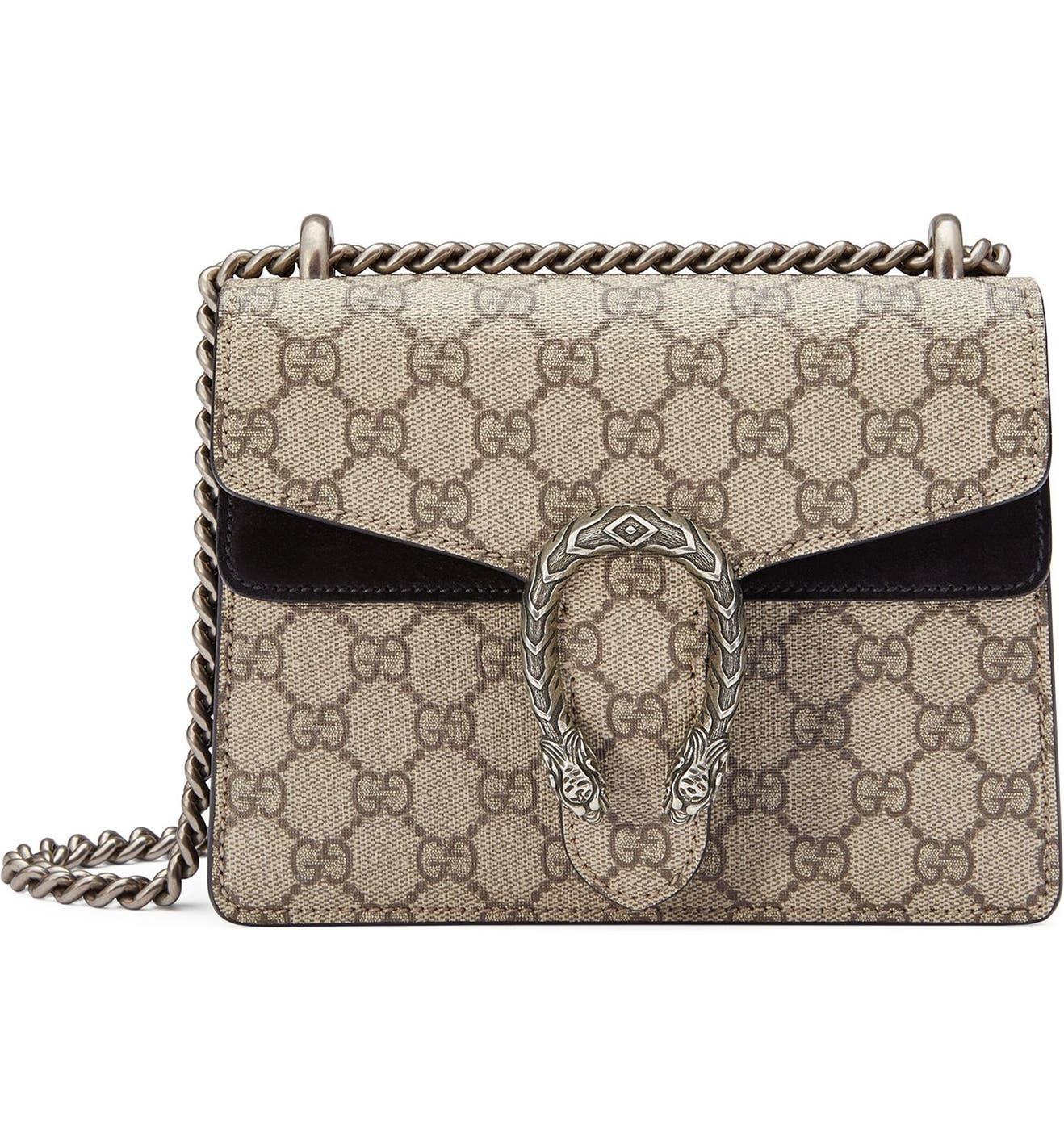 ec92e42133fb Gucci Mini Dionysus GG Supreme Shoulder Bag   Nordstrom
