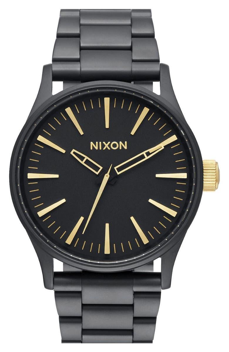 NIXON 'The Sentry' Bracelet Watch, 38mm, Main, color, 001
