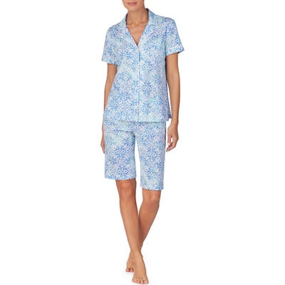 Plus Size Lauren Ralph Lauren Bermuda Short Pajamas, Green