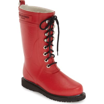 Ilse Jacobsen Rubber Waterproof Boot, Red