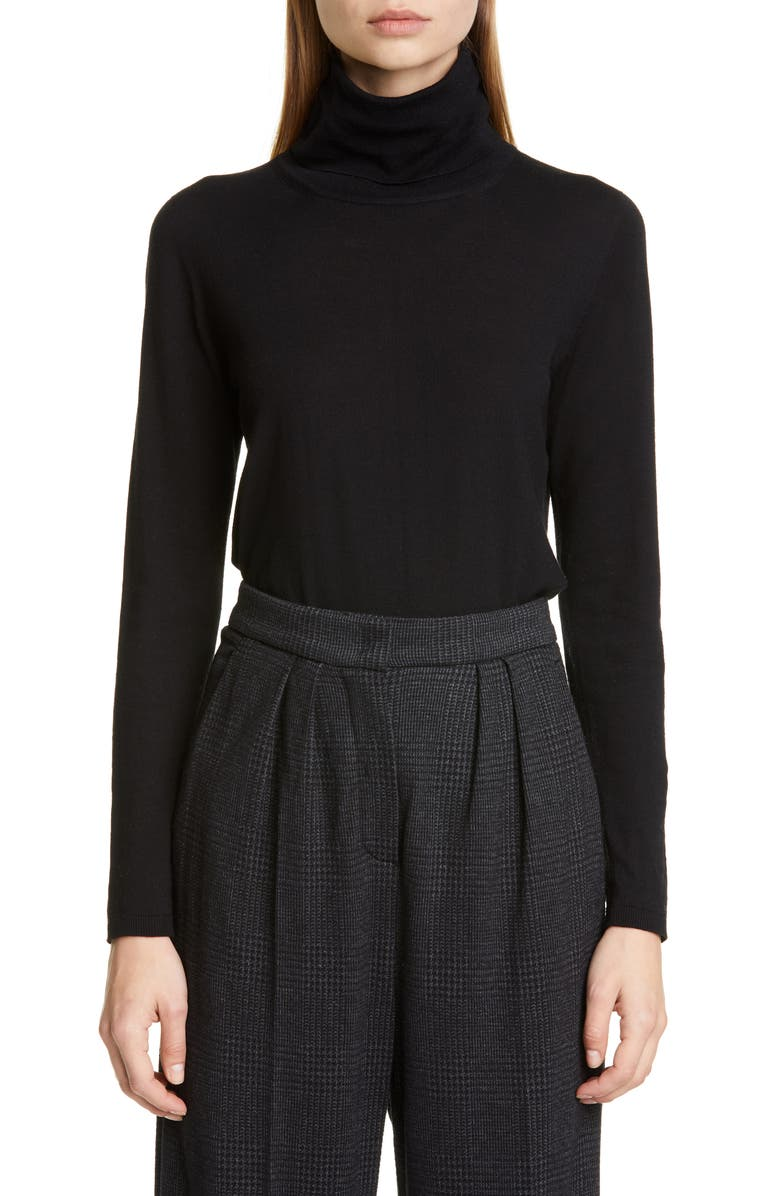 MAX MARA Anta Turtleneck Sweater, Main, color, BLACK
