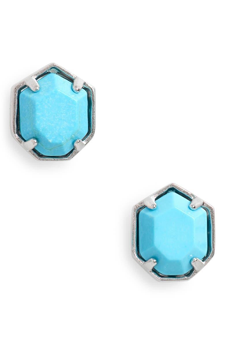 KENDRA SCOTT 'Logan' Stud Earrings, Main, color, 440