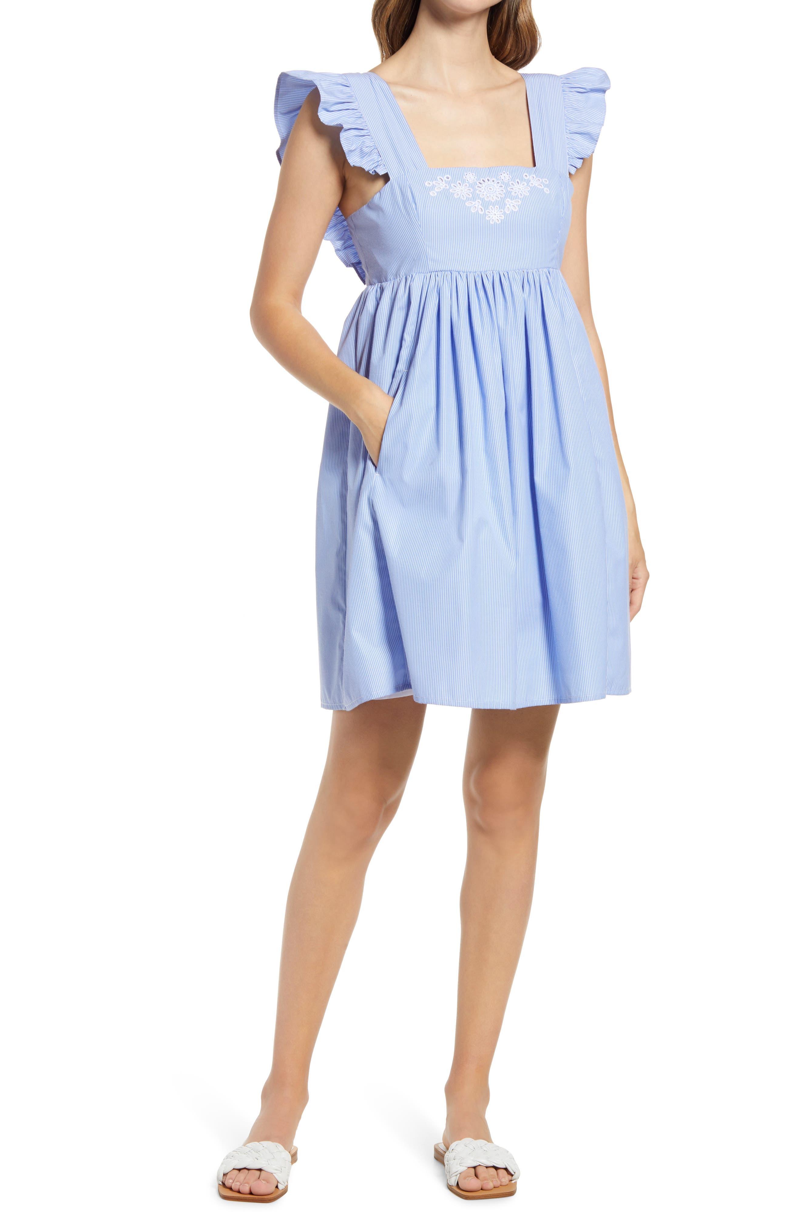 Stripe Pinafore Minidress