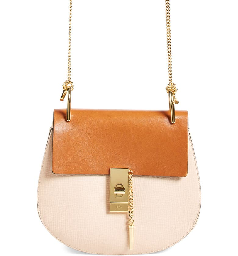 CHLOÉ 'Small Drew' Leather Shoulder Bag, Main, color, 250