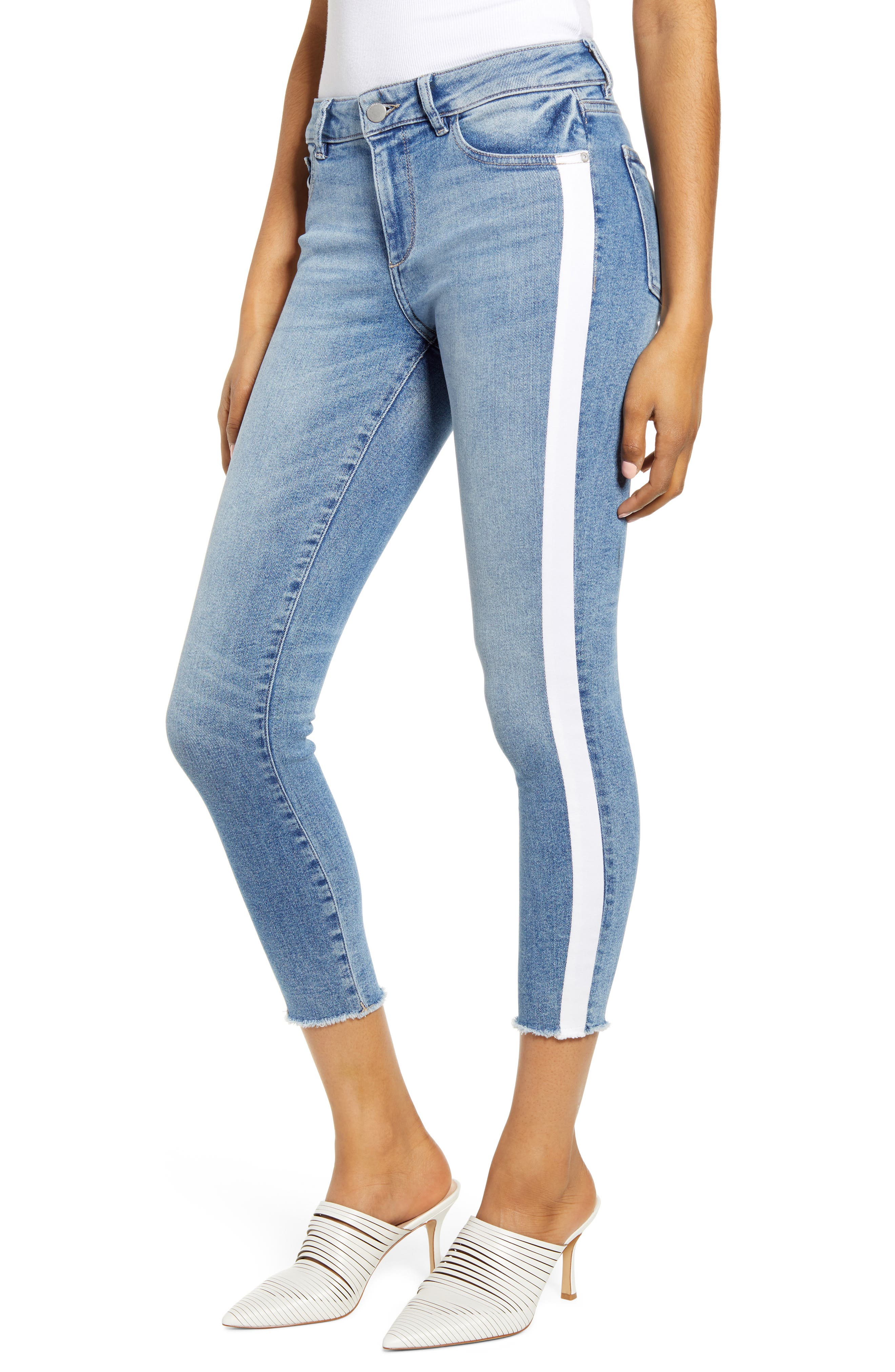 Image of DL1961 Florence Crop Mid-rise Instasculpt Skinny Jeans