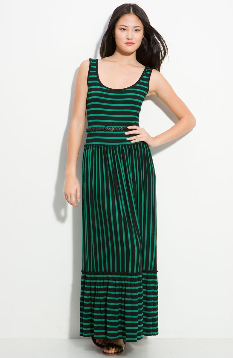CALVIN KLEIN Stripe Maxi Dress, Main, color, 003