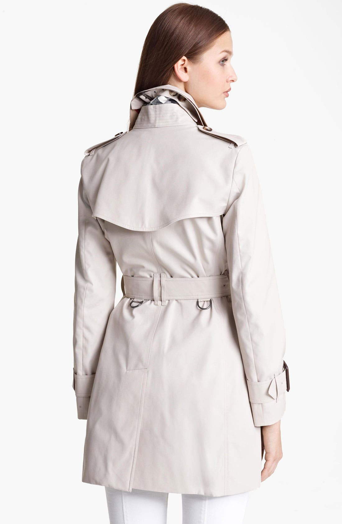,                             'Marystow' Double Breasted Poplin Short Trench Coat,                             Alternate thumbnail 2, color,                             250