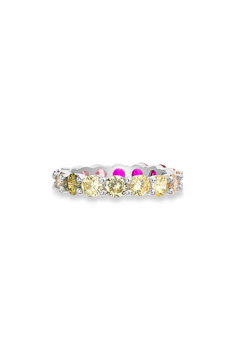 LESA MICHELE Multicolored Cubic Zirconia Ring, Main, color, MULTI