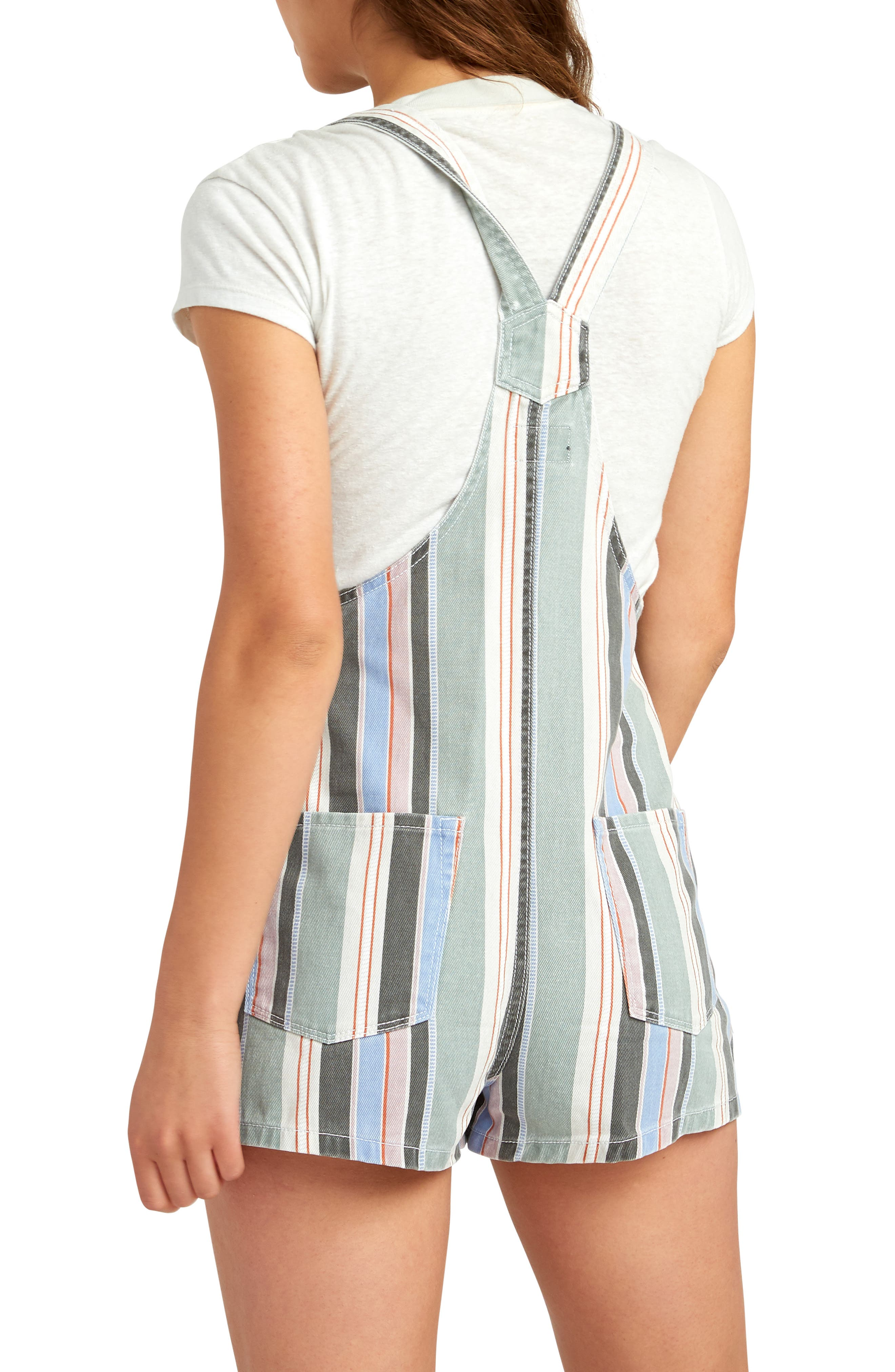 ,                             Townhouse Stripe Denim Shortalls,                             Alternate thumbnail 2, color,                             MULTI