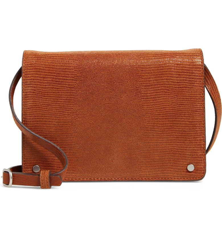 TREASURE & BOND Lex Mini Leather Crossbody Bag, Main, color, 210