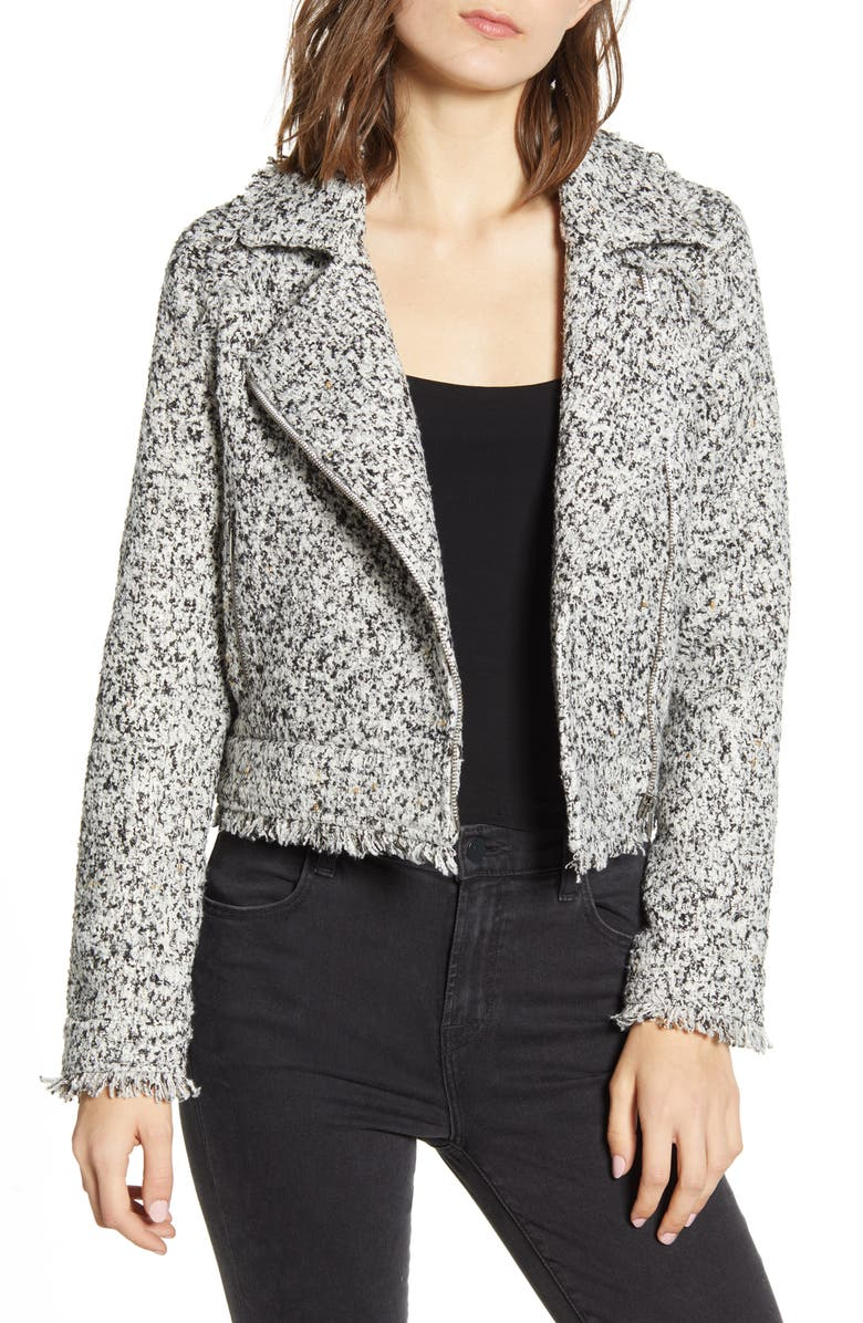 CUPCAKES AND CASHMERE Jordan Marled Tweed Jacket, Main, color, IVORY