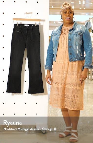 Le Bardot Patch Pocket High Waist Crop Flare Jeans, sales video thumbnail