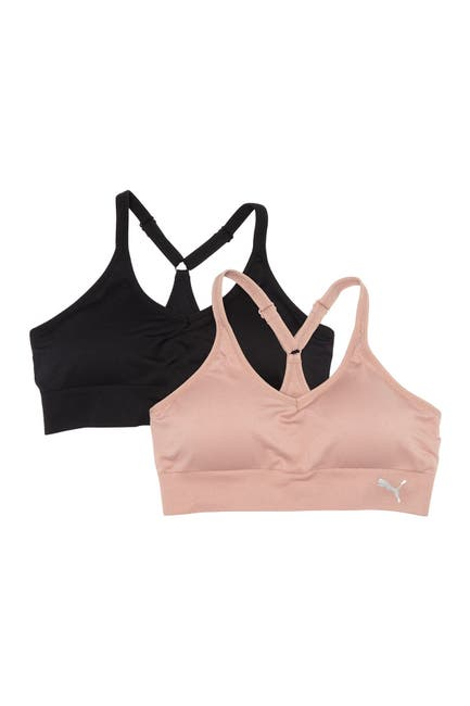 Image of PUMA Seamless Y-Back Sports Bra - Pack of 2