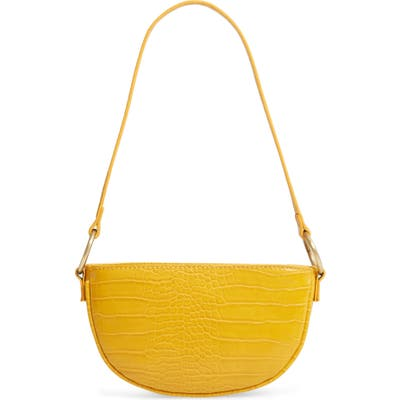 Bp. Embossed Faux Leather Shoulder Bag - Yellow