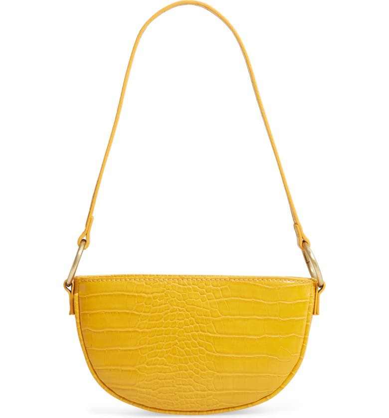 BP. Embossed Faux Leather Shoulder Bag, Main, color, YELLOW MINERAL