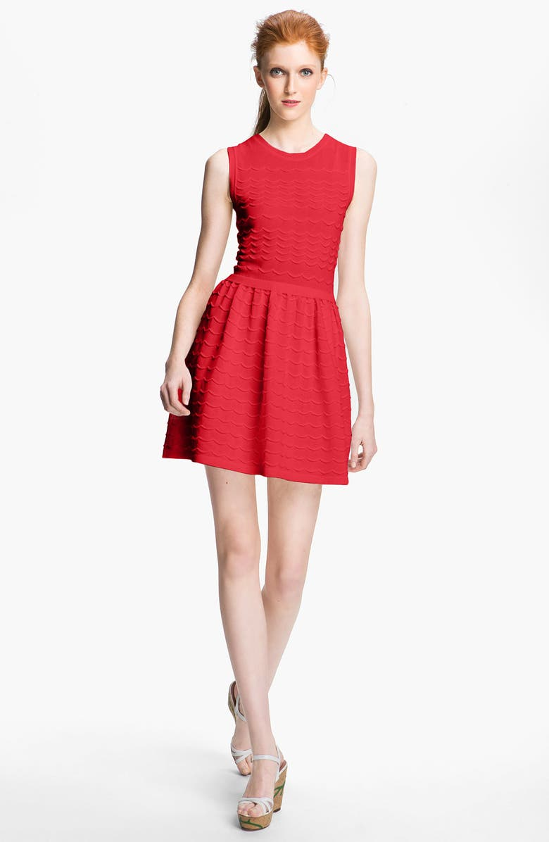 RED VALENTINO Cotton Yarn Dress, Main, color, 610