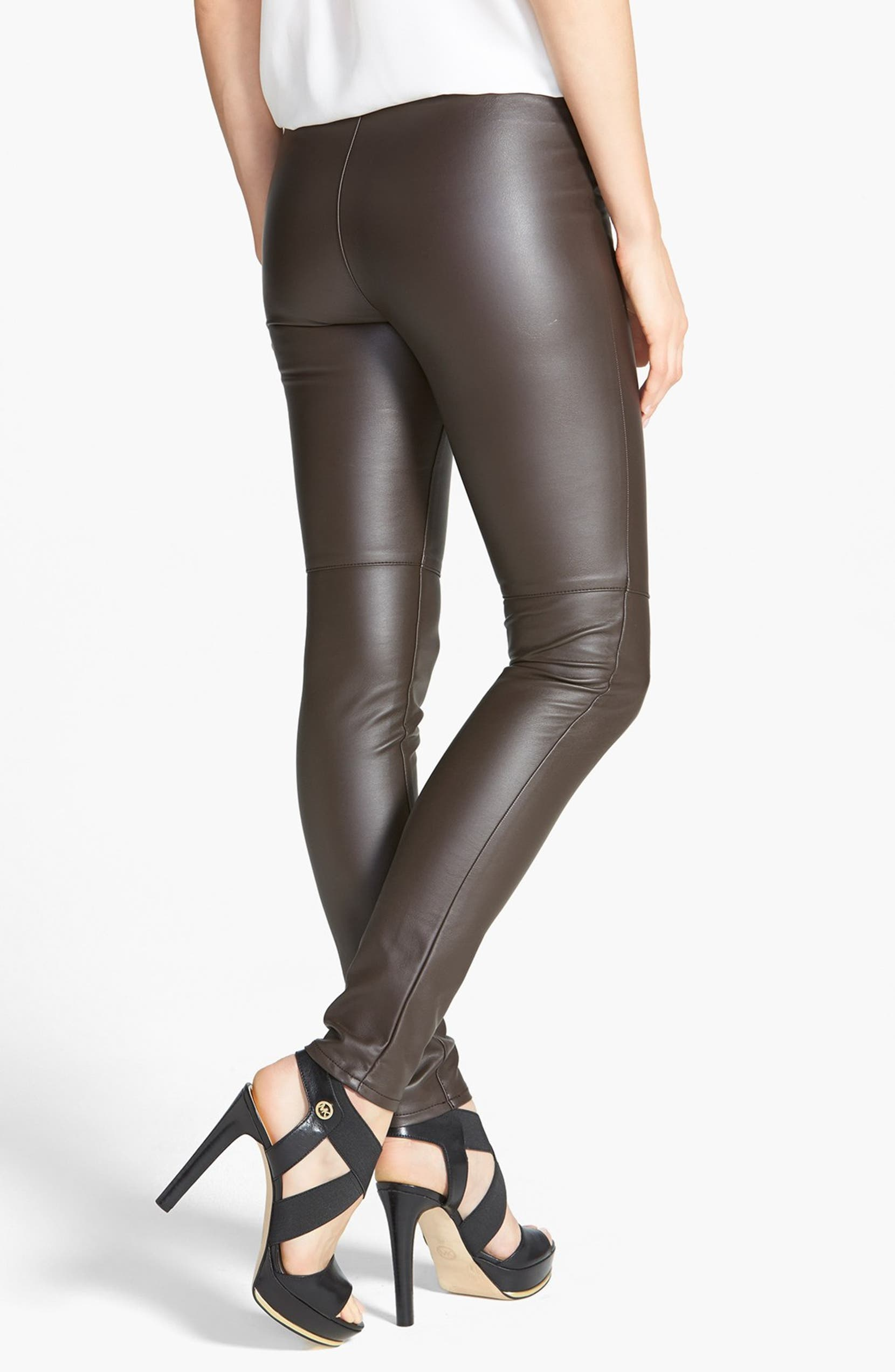 d3fe650da662e0 MICHAEL Michael Kors Faux Leather Leggings (Regular & Petite) | Nordstrom