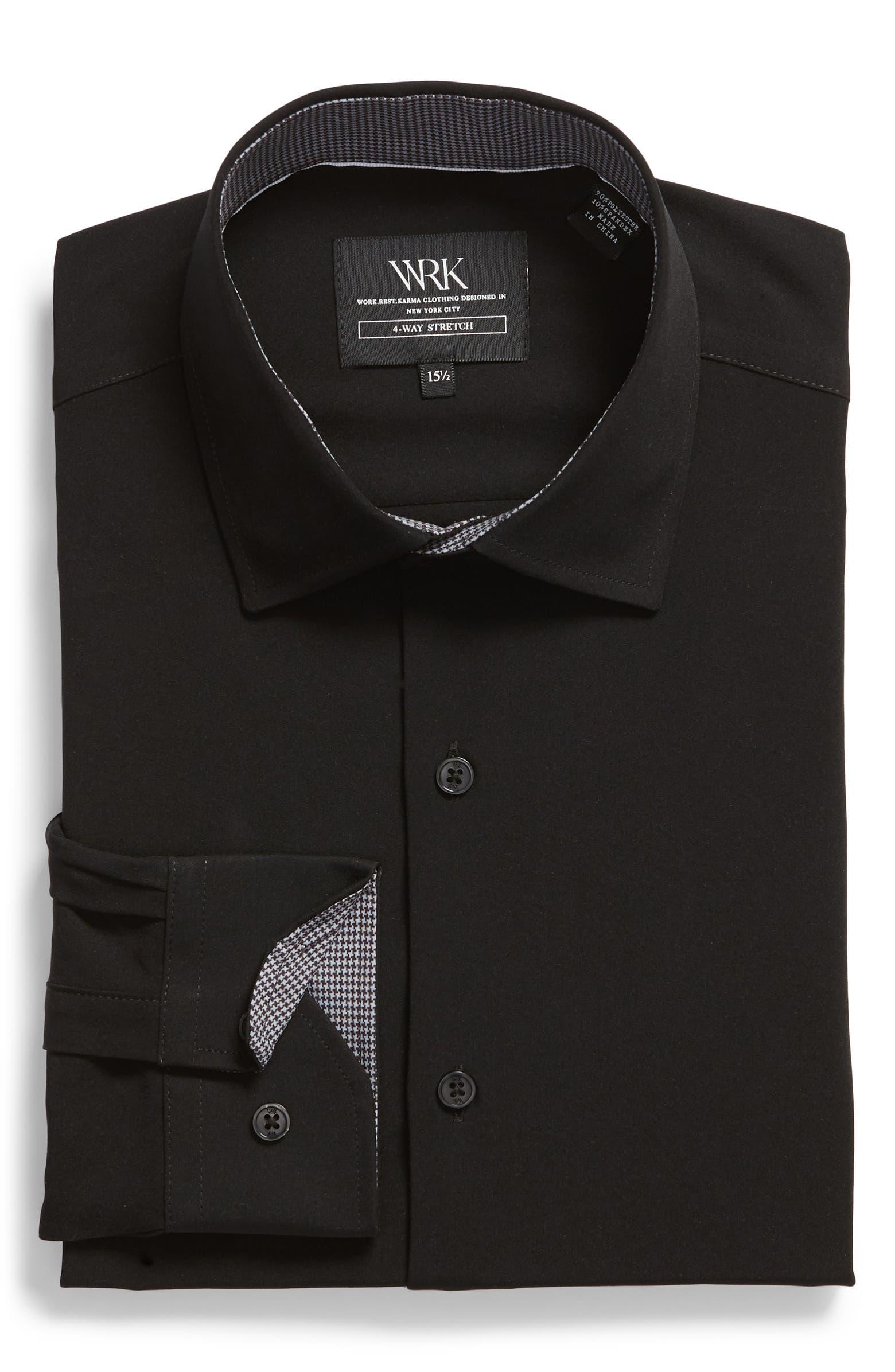 Trim Fit Solid Performance Stretch Dress Shirt W.R.K