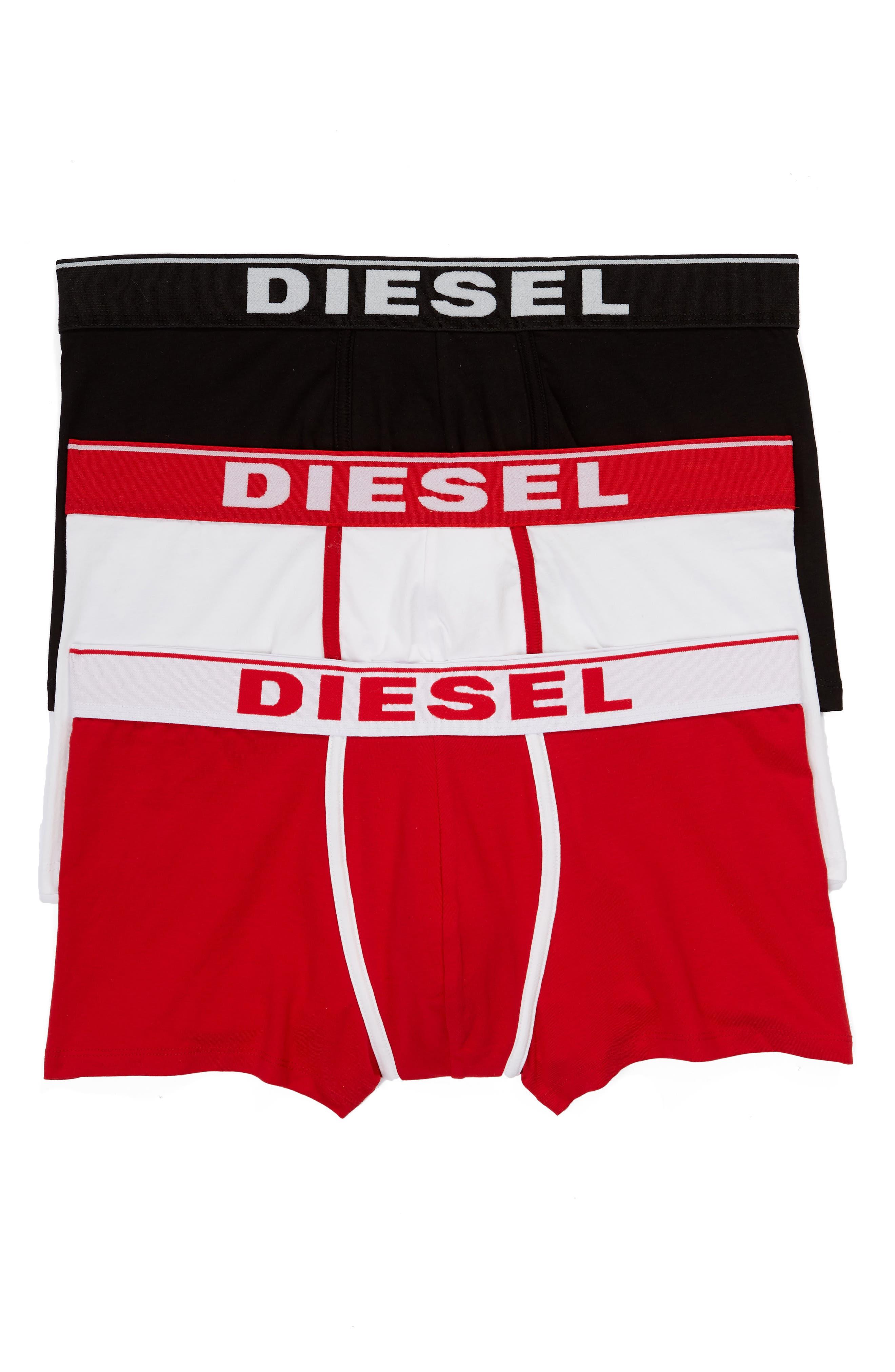 Men's Diesel Umbx-Damien 3-Pack Assorted Boxer Briefs