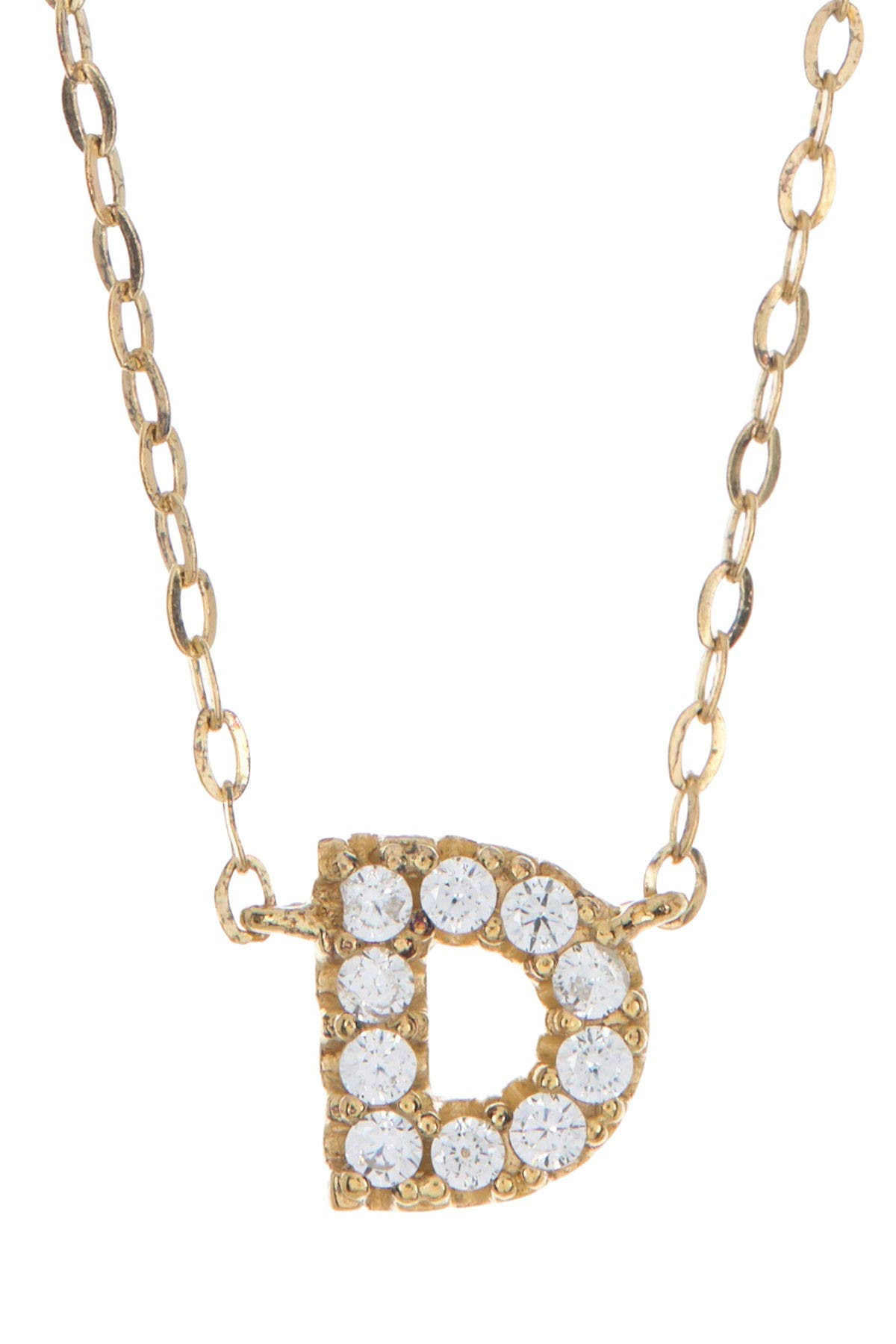 "Image of NADRI Crystal Stone ""D"" Pendant Necklace"