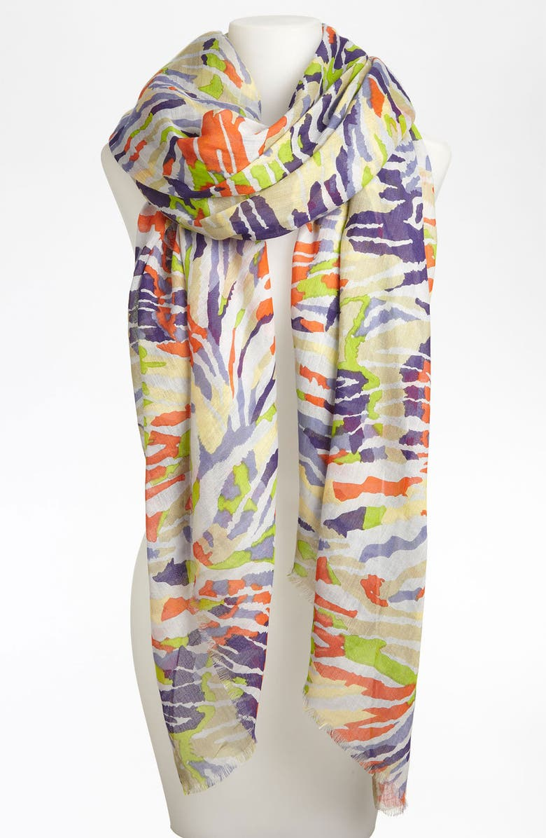 LULLA COLLECTION BY BINDYA 'Babylon' Staggered Stripe Scarf, Main, color, 400