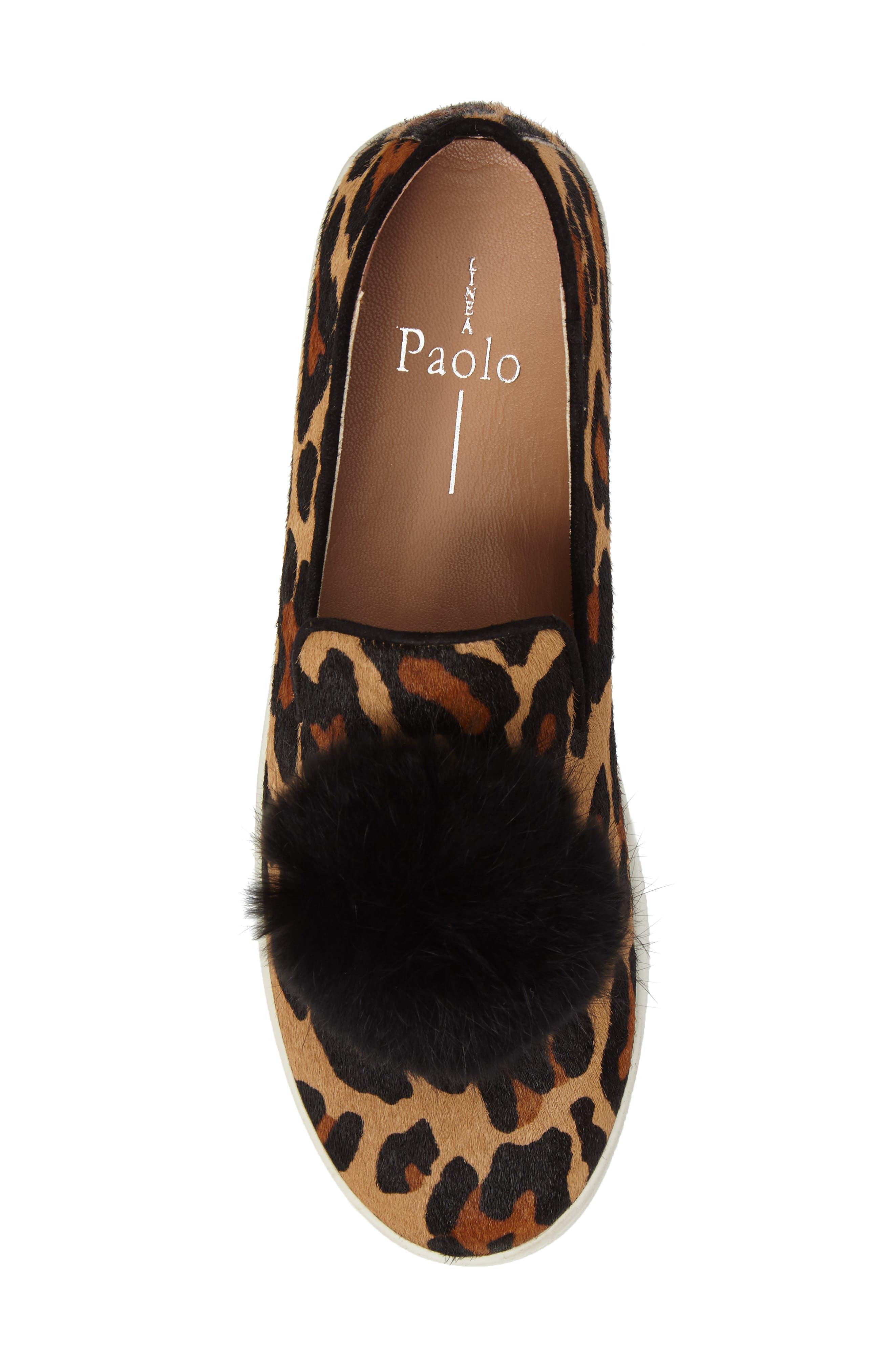 ,                             Sammy II Genuine Calf Hair Platform Sneaker with Genuine Rabbit Fur Trim,                             Alternate thumbnail 5, color,                             215