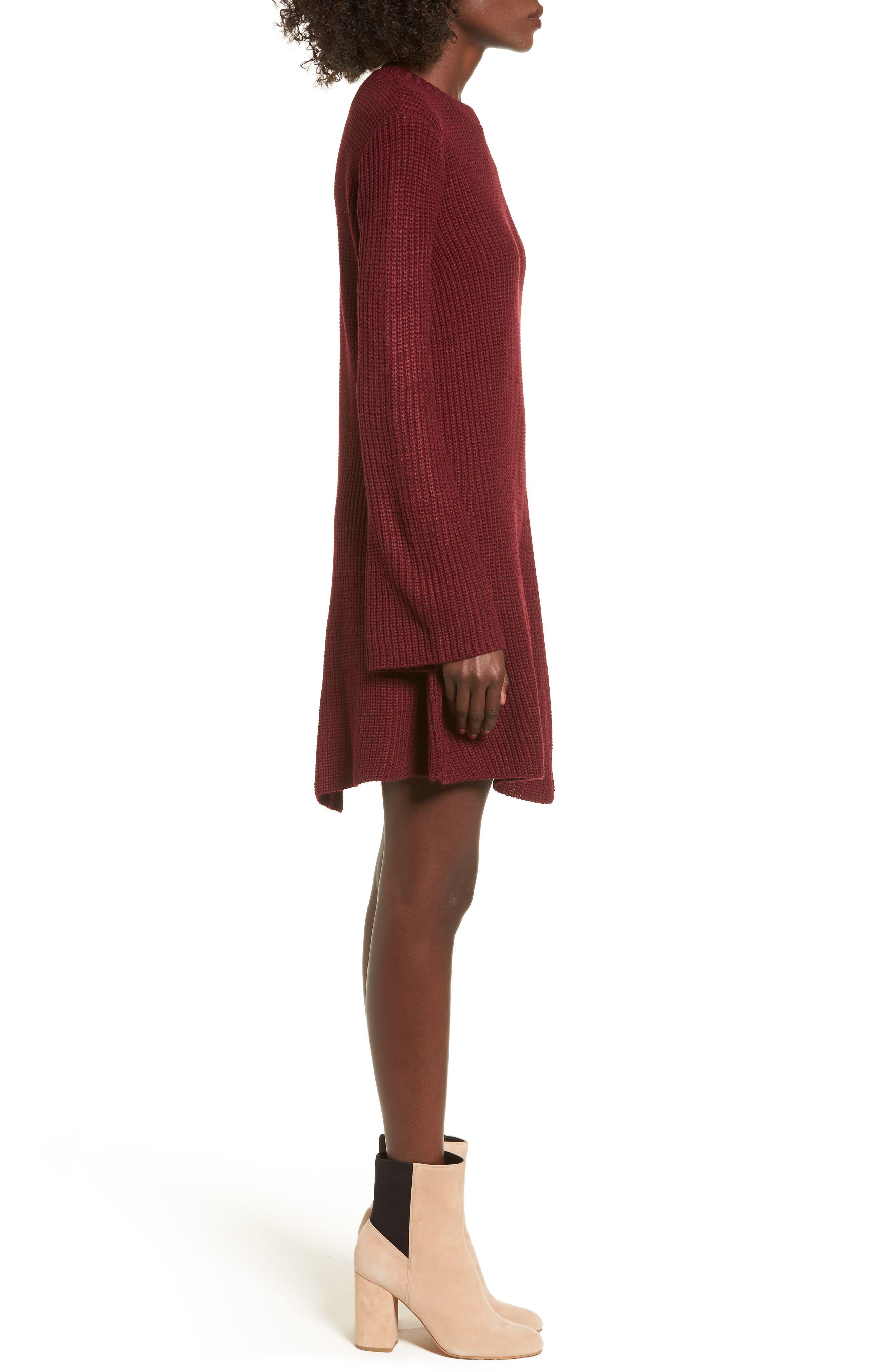 ,                             Flared Sleeve Sweater Dress,                             Alternate thumbnail 15, color,                             930