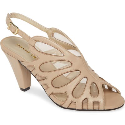 David Tate Marlena Butterfly Mesh Pump, WW - Beige
