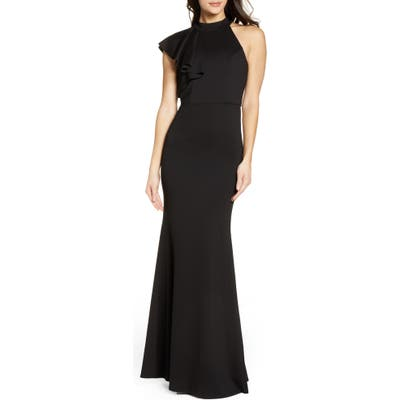 Lulus Margaux One Shoulder Maxi Dress, Black