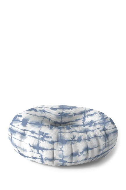 Image of Deny Designs Jacqueline Maldonado Lateral Slate Blue Round Floor Pillow