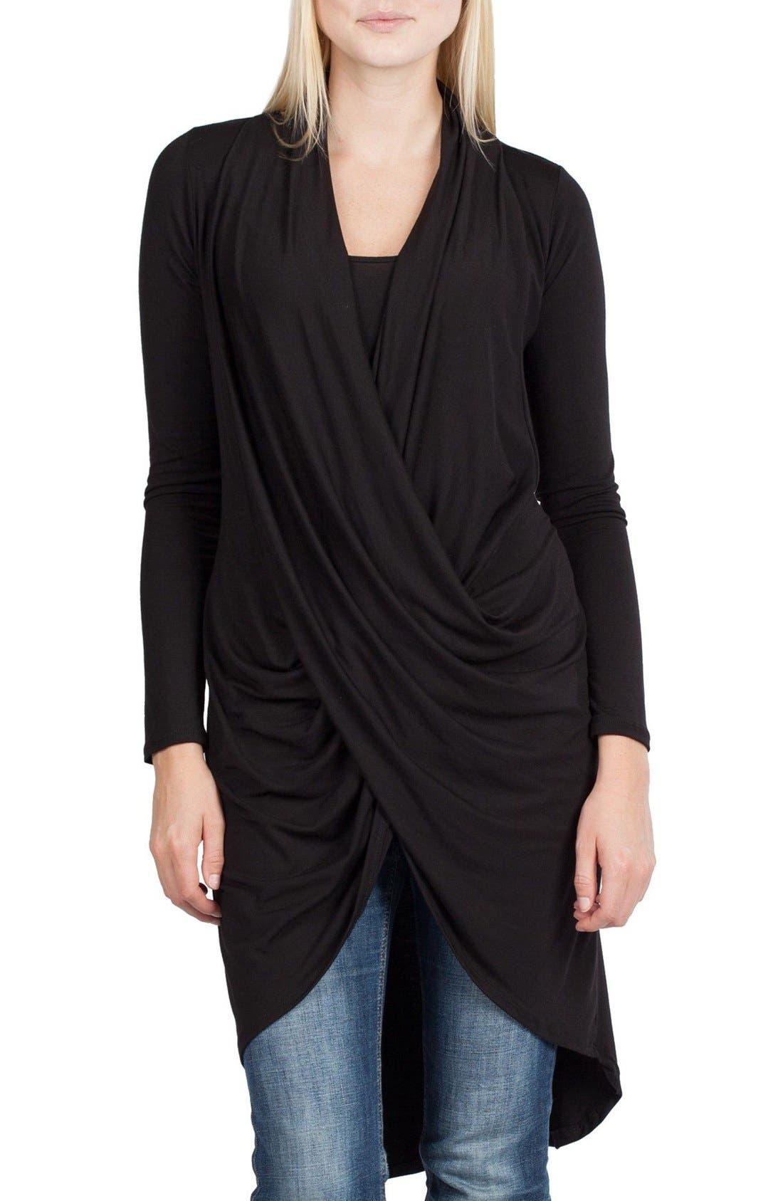 Nara Maternity/Nursing Cardigan, Main, color, BLACK