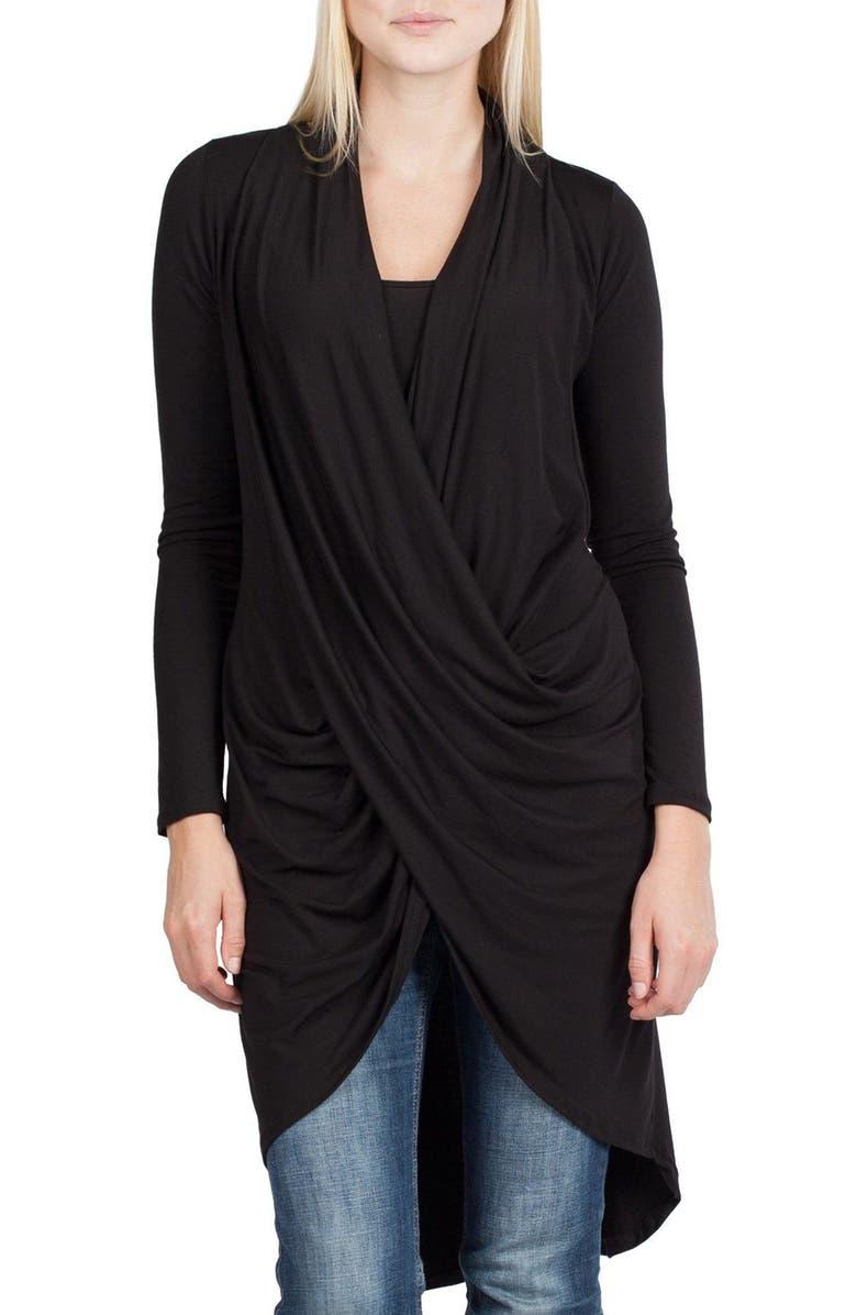 SAVI MOM Nara Maternity/Nursing Cardigan, Main, color, BLACK